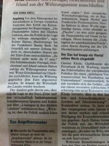 "Zeitungsartikel ""Politik muss Kante zeigen"""
